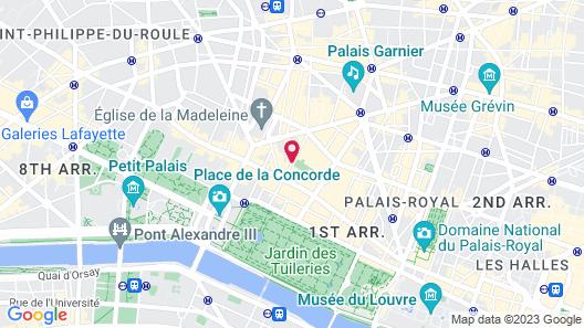 Castille Paris - Starhotels Collezione Map