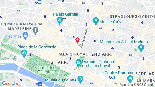 Hotel Square Louvois Map