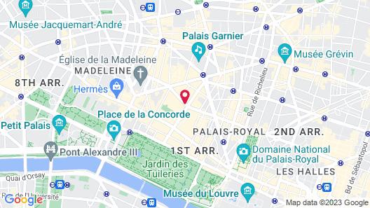 Hôtel Mansart Map