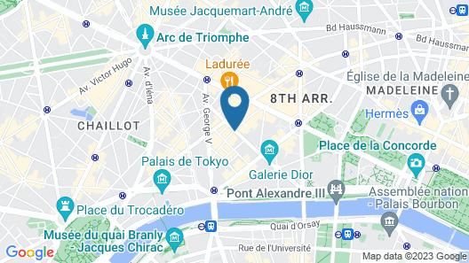 Hôtel Claridge Map