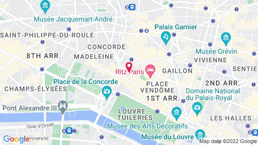 Hôtel Opéra Richepanse Map