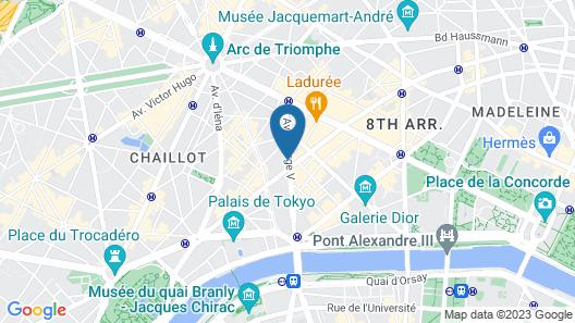 Four Seasons Hotel George V Map