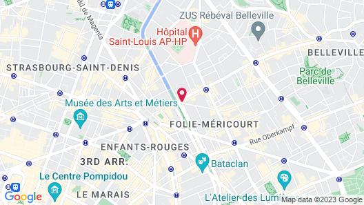 Absolute Hotel Paris République Map