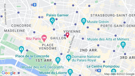 Lyric Hotel Paris Map