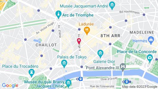 Prince de Galles, a Luxury Collection Hotel, Paris Map