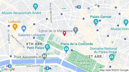 Buddha-Bar Hotel Paris Map