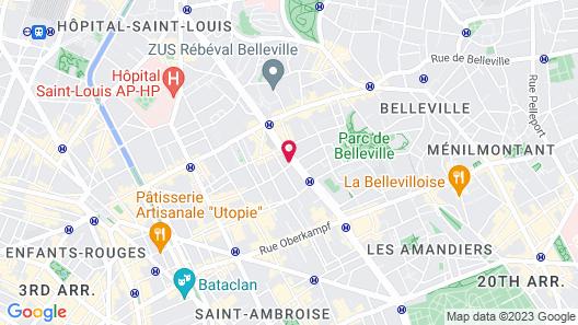 Les Piaules Belleville Map