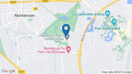 Appart'City Confort Marne La Vallée Val d'Europe Map