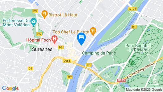 Novotel Paris Suresnes Longchamp Map