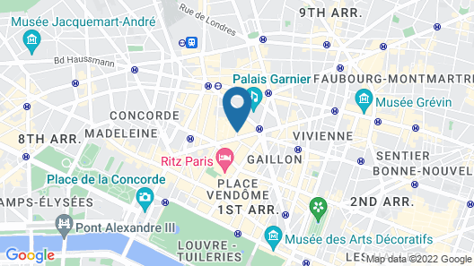 Sofitel Le Scribe Paris Opéra Map