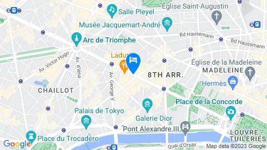 Paris Marriott Champs Elysees Hotel Map