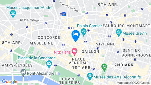Hotel Indigo Paris - Opera Map