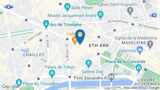 Fraser Suites Le Claridge Champs-Elysées Map