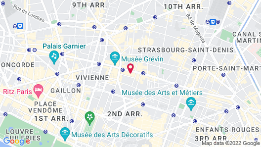 Hôtel Des Grands Boulevards Map