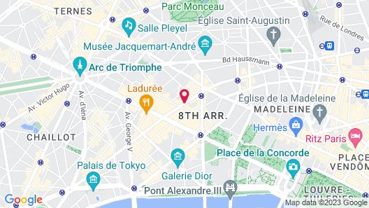 Hôtel d'Angleterre Champs-Elysées Map
