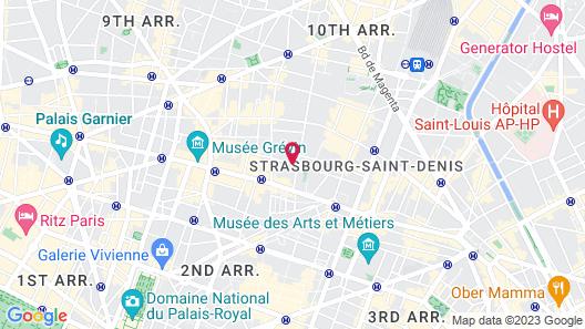 Hôtel Vacances Bleues Provinces Opéra Map