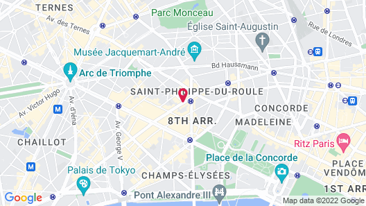 Hotel Des Champs Elysees Map