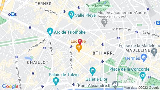 Hotel Lancaster Paris Champs-Elysées Map