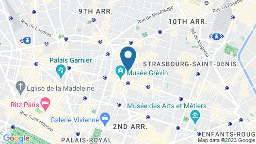 Hotel Prélude Opéra Map