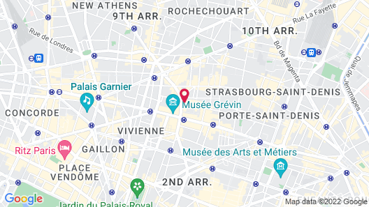 Hôtel 34B - Astotel Map