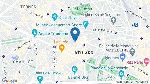 Hotel Daniel Paris Map