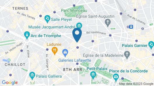 Hôtel Le 123 Elysées - Astotel Map