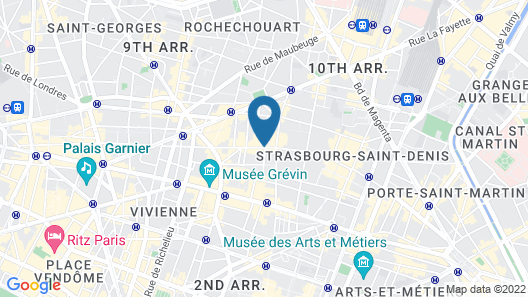 Hôtel Aida Opéra Map