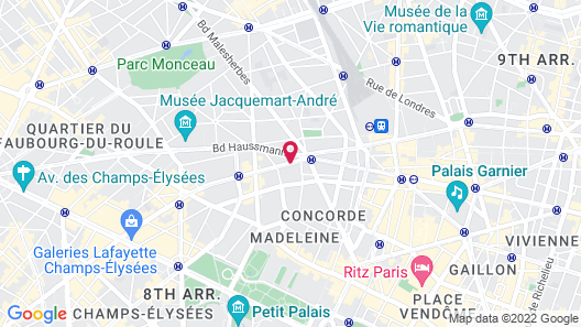 Hotel Park Lane Paris Map