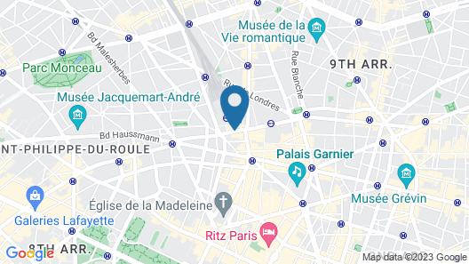 Hilton Paris Opera Map