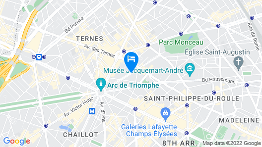 Le Royal Monceau - Raffles Paris Map