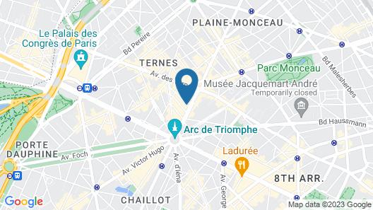 Hotel Arc de Triomphe Etoile Map