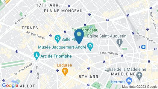 L'Hotel du Collectionneur Arc de Triomphe Map