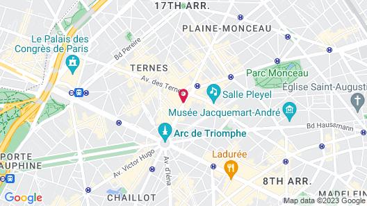 Renaissance Paris Arc de Triomphe Hotel Map