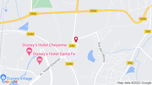 B&B Hotel At Disneyland® Paris Map