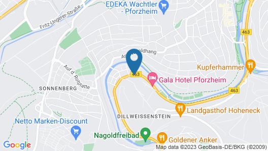 Pforzheim Ferienhaus 24-7 Map