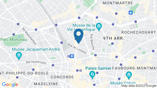 Laz' Hotel Spa Urbain Paris Map