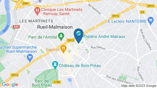 Hôtel des Arts Map