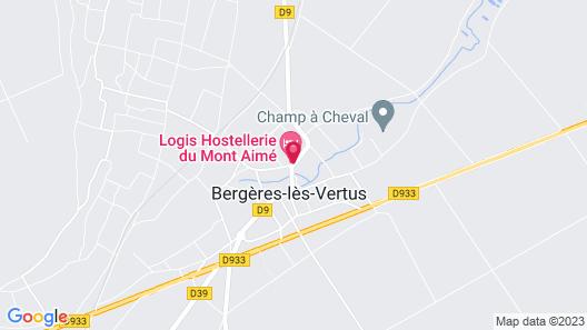 Hostellerie du Mont-Aimé Map