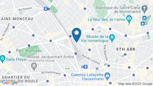 Hôtel Cervantes by Happyculture Map