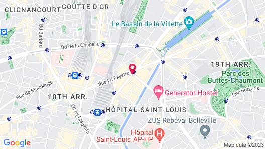 Hotel Paris Louis Blanc Map