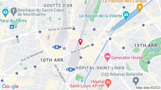 Hotel de l'Aqueduc Map