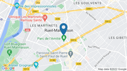 The Originals Boutique, Rueil Sur Seine Map