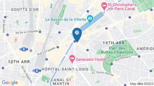 Libertel Canal Saint Martin Map