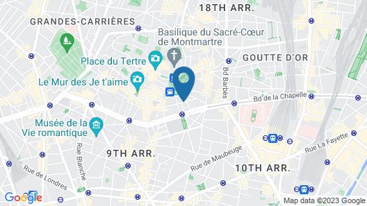 Le Village Montmartre by Hiphophostels Map