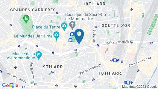 Hôtel Bellevue Paris Montmartre Map