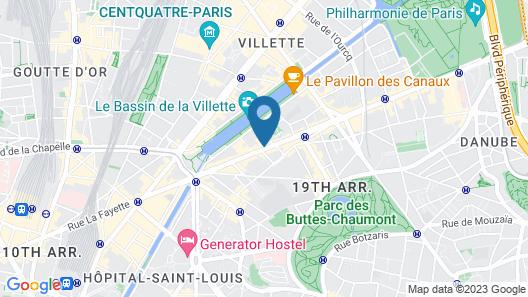 ibis budget Paris La Villette 19eme Map