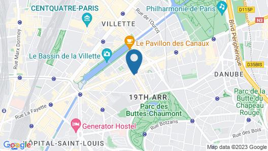 ibis Styles Paris Buttes Chaumont Map