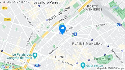Hôtel Champerret Héliopolis Map