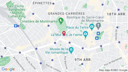 Citadines Montmartre Paris Map