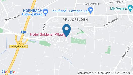 Hotel & Restaurant Goldener Pflug Map